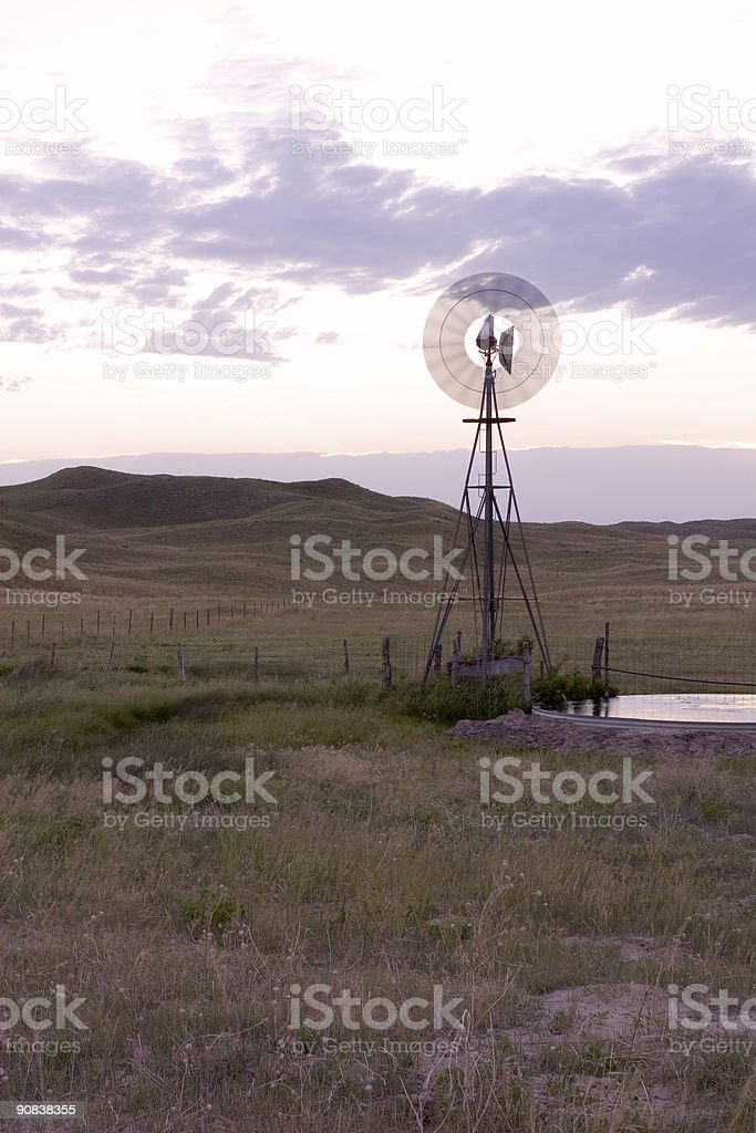 Turning Windmill royalty-free stock photo