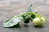 turnip cabbage close up photo on stone background