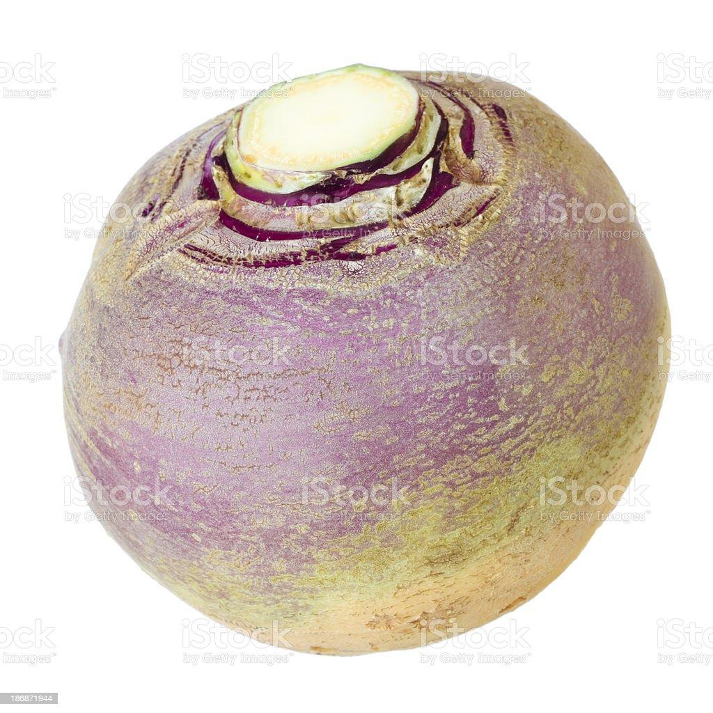 Turnip isolated on white stock photo