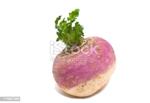 A turnip isolated on a white background.See similar images in my Food & Drink Lightbox