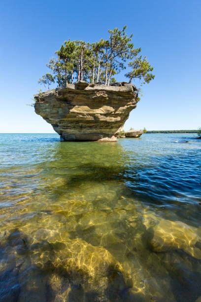 Turnip Rock on Lake Huron near Port Austin