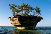 Turnip Rock in Port Austin Michigan