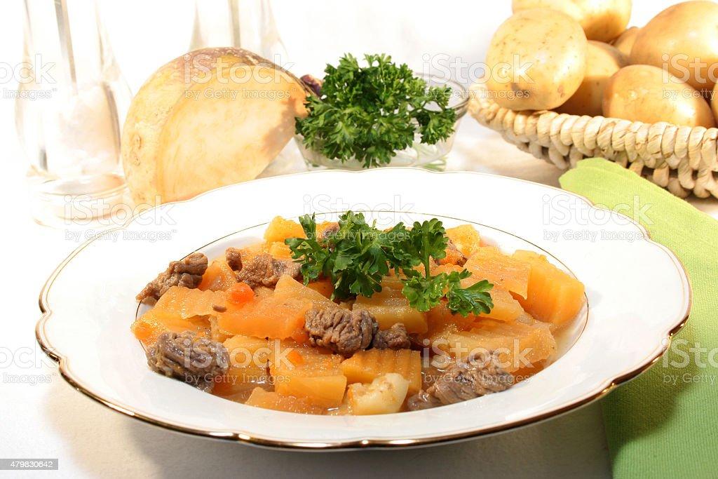 turnip soup stock photo