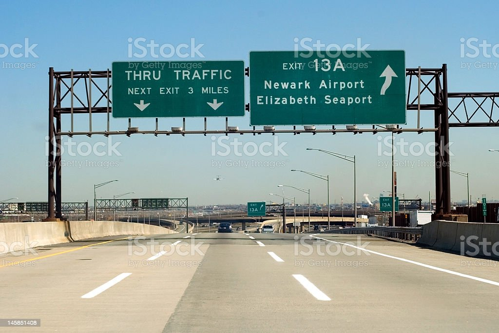 NJ Turnpike stock photo