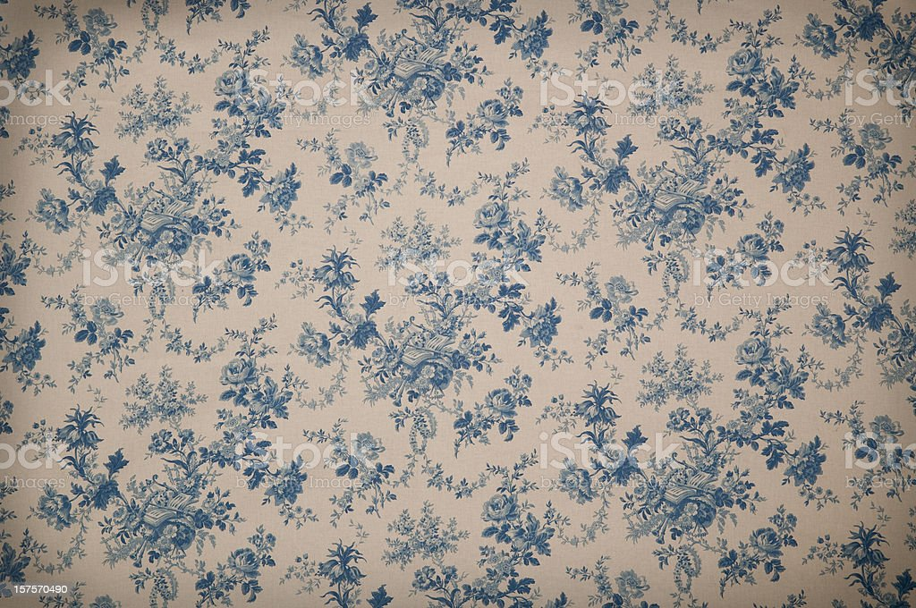 Turnsberry Toile Medium Antique Fabric stock photo