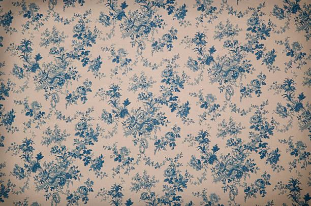 Turnsberry Toile Medium Antique Fabric stock photo