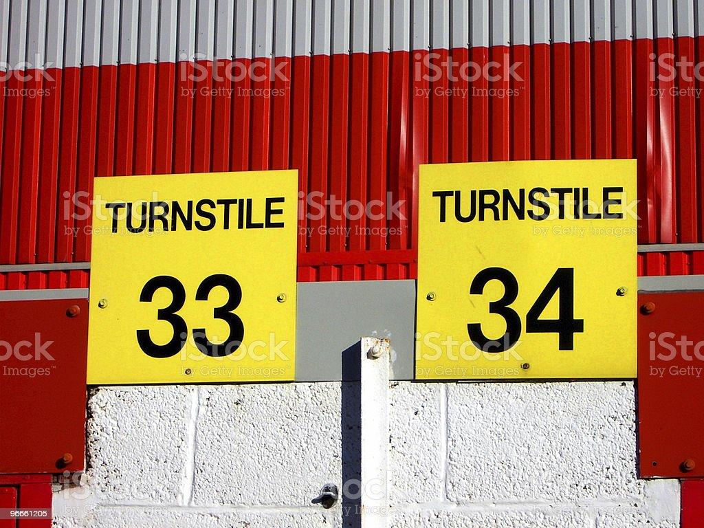 Turnstile 33 & 34 royalty-free stock photo