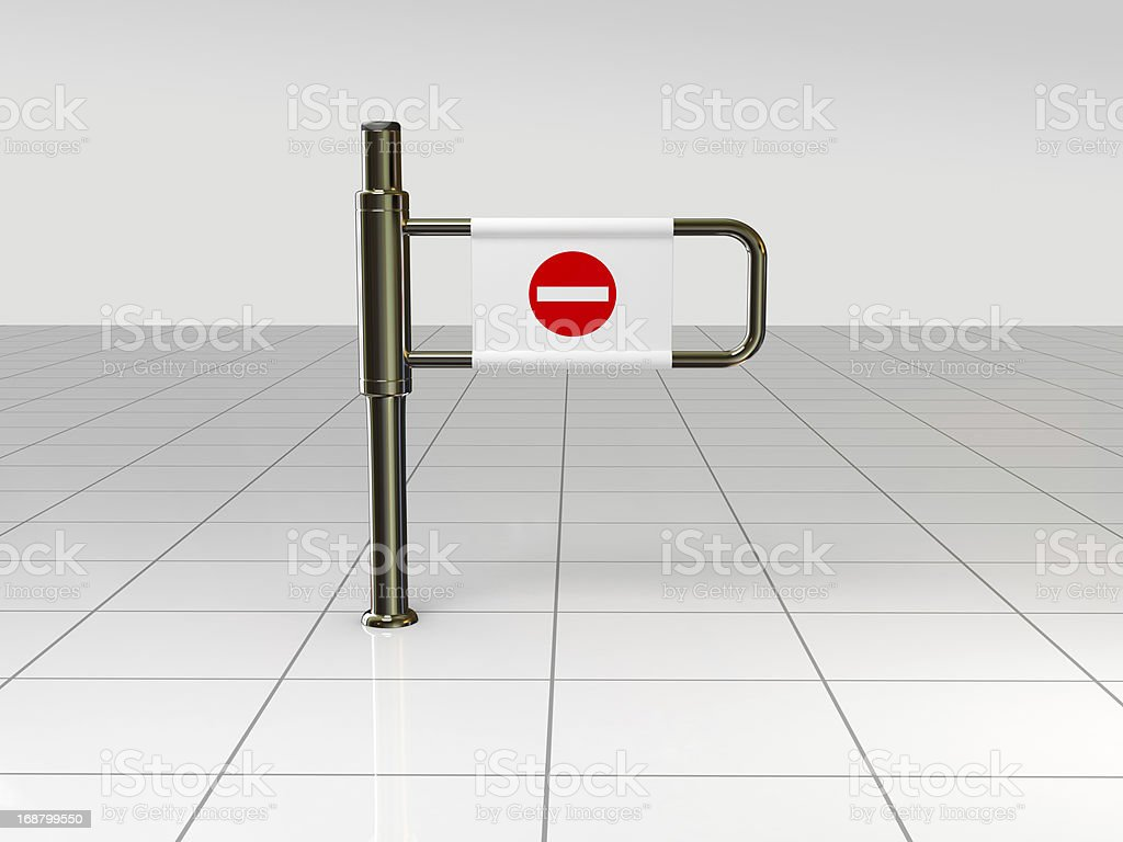 Turnstile and Stop Symbols royalty-free stock photo