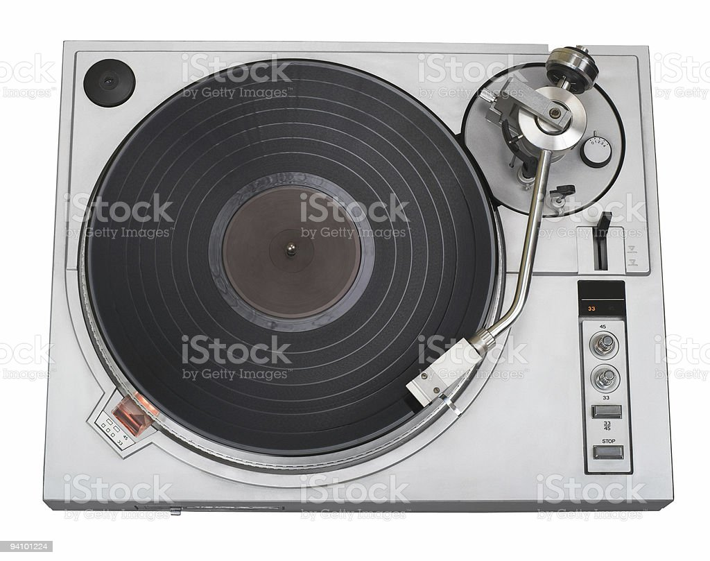Turntable cutout royalty-free stock photo