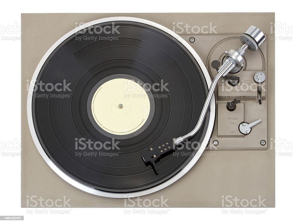 Turntable, isolated on white background stock photo
