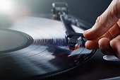 istock Turntable LP record player playing vinyl 1202312222