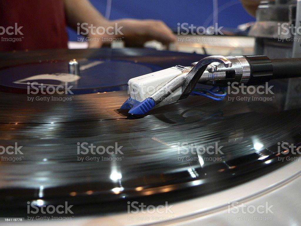 DJ - turntable royalty-free stock photo