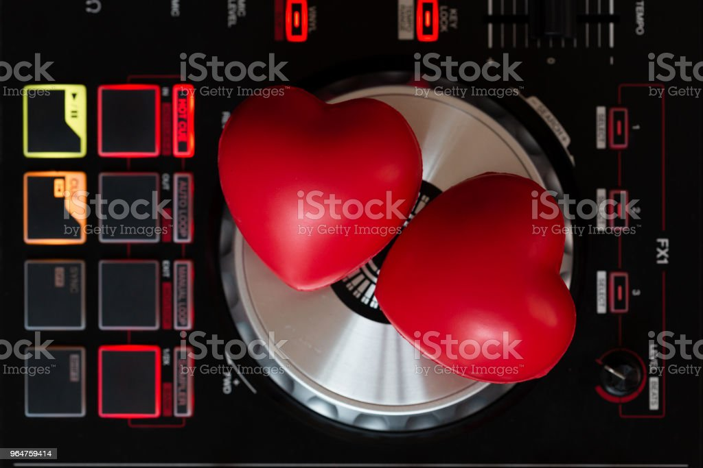 Turntable vinyl record player royalty-free stock photo