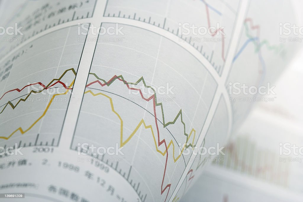 Turnup Financial Chart royalty-free stock photo