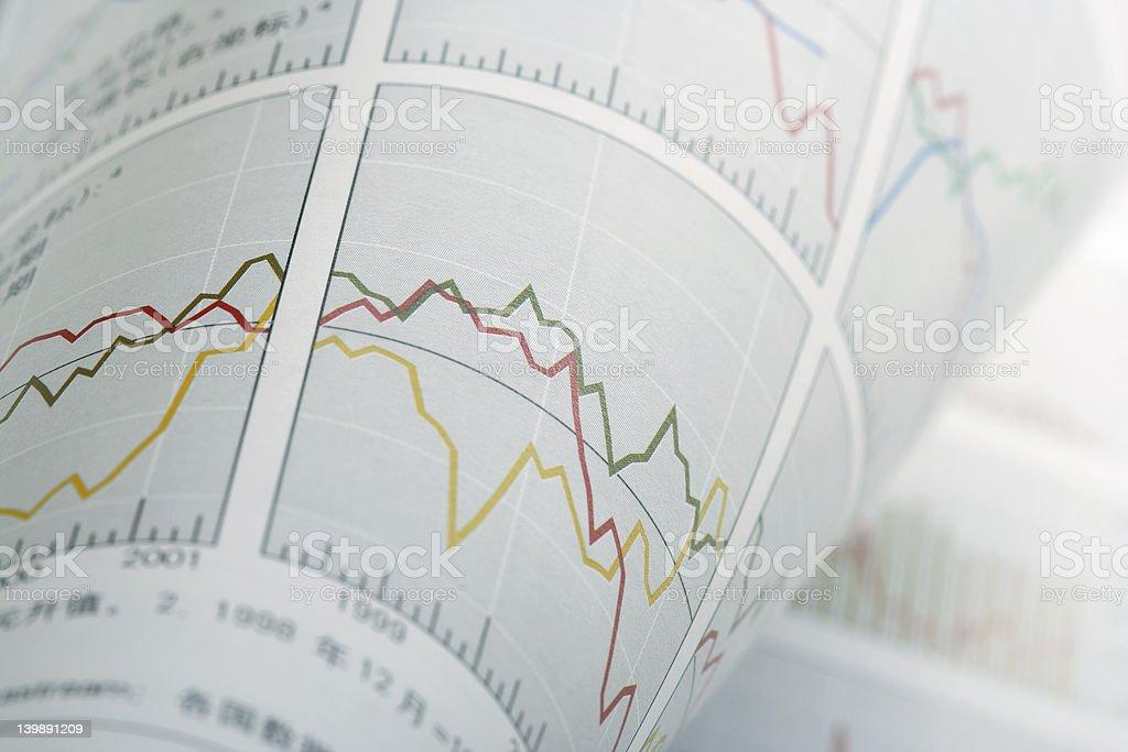 Turnup Financial Chart stock photo
