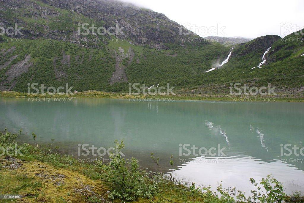 Turqouise glacier lake royalty-free stock photo