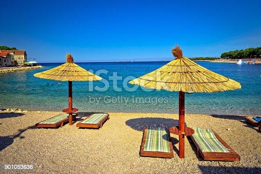 istock Turquoise Adriatic beach in Primosten, Dalmatia region of Croatia 901053636