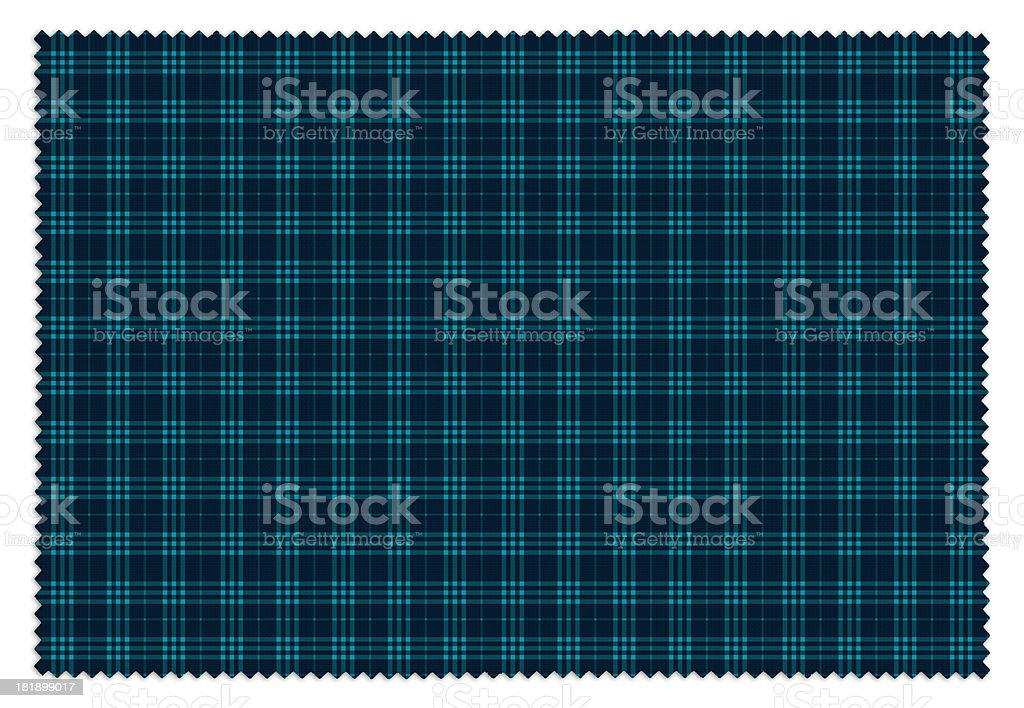 Turquoise And Blue Gingham Tablecloth Swatch Royalty Free Stock Photo