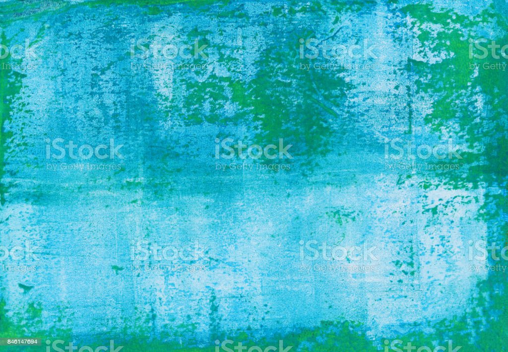 Turquoise and green rough grungy texture background stock photo