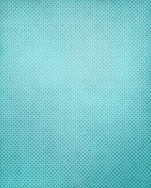 turquoise antique paper with halftone - spotted stock pictures, royalty-free photos & images