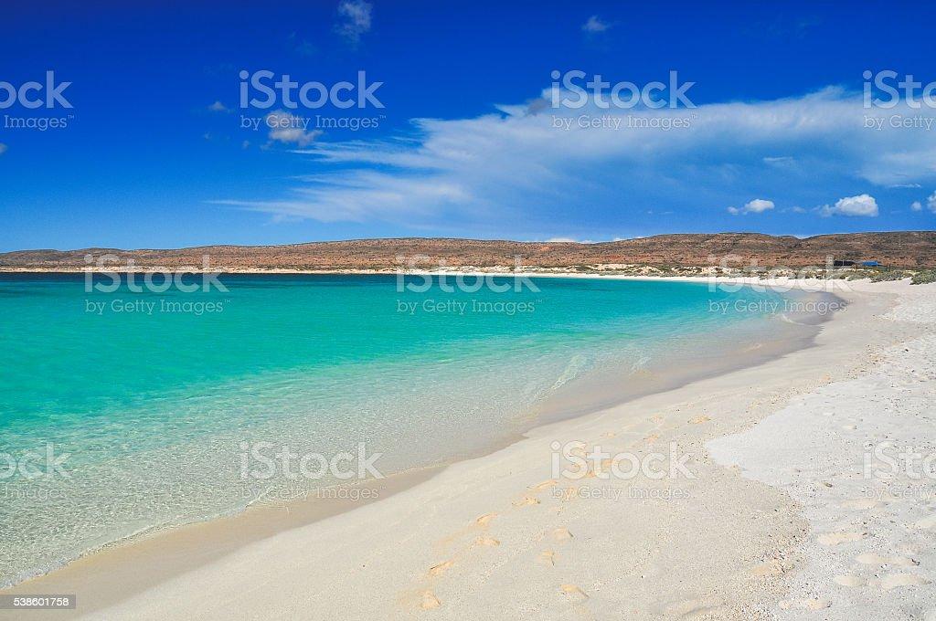 Turquoise Bay beach stock photo