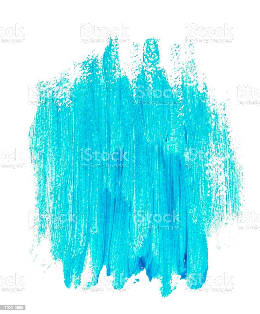 Turquoise blue acrylic banner stock photo
