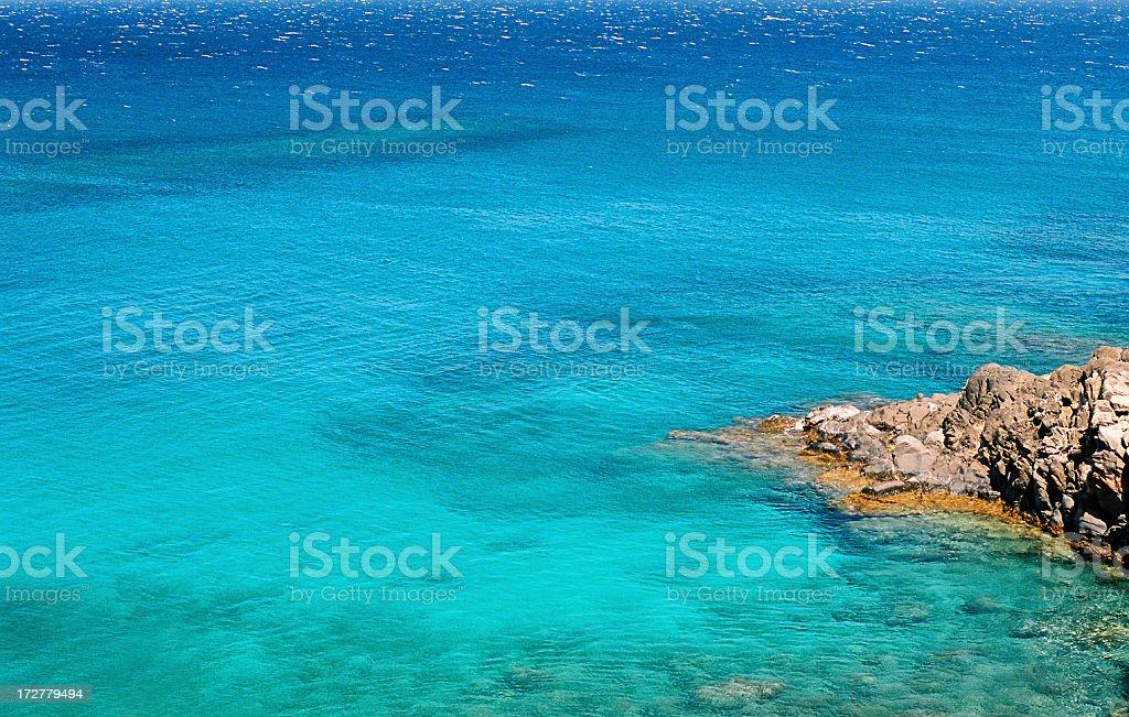 Turquoise Blue Maui Hawaii ocean swim snorkel bay stock photo