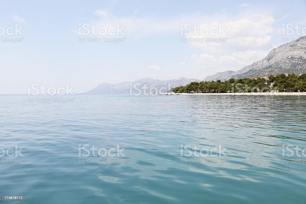 turquoise blue mediterranean ocean Croatia royalty-free stock photo
