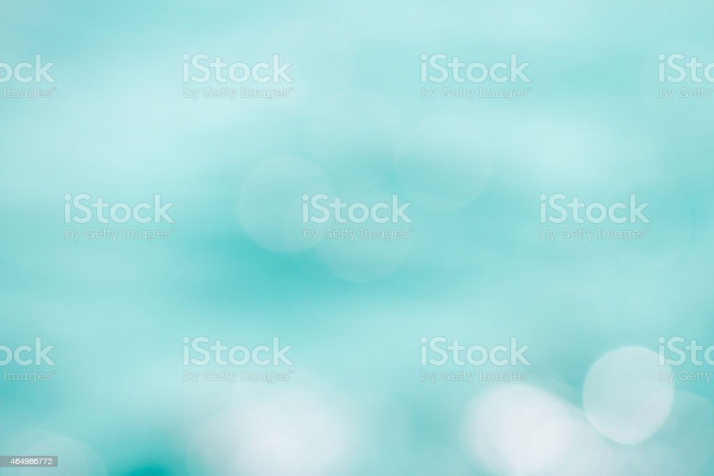 turquoise bokeh as a background stock photo