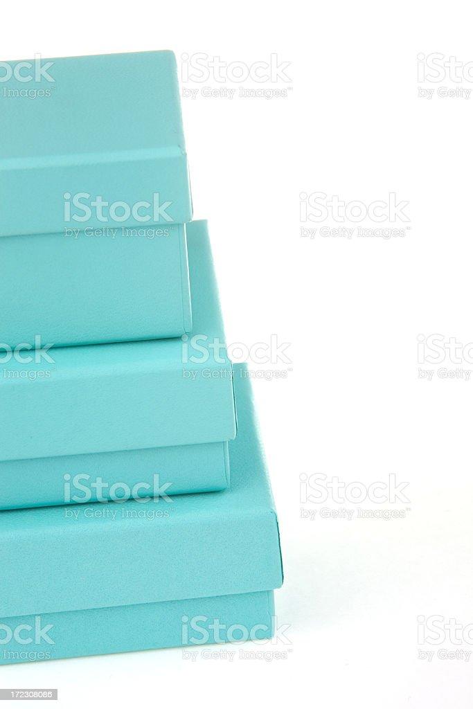 turquoise boxes stock photo