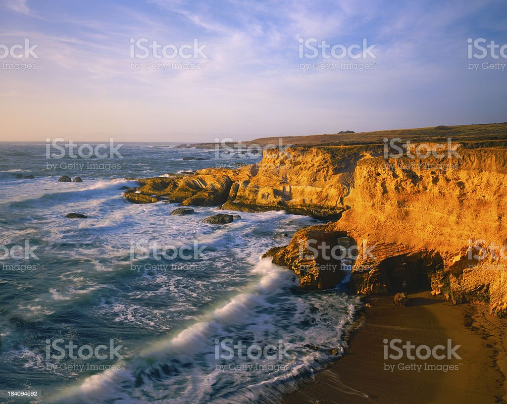 Turquoise California Coastline (P) stock photo