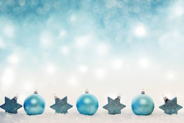Türkis Weihnachtsdekoration – Foto