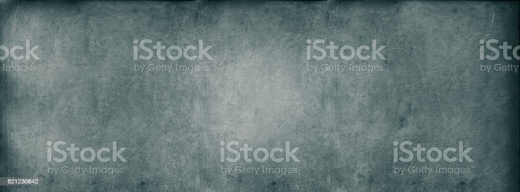 Turquoise Classroom Blackboard Background Chalk Erased Texture stock photo