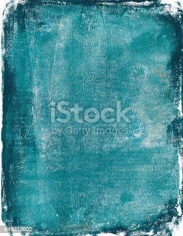 istock Turquoise colored mixed media grunge background 649313602
