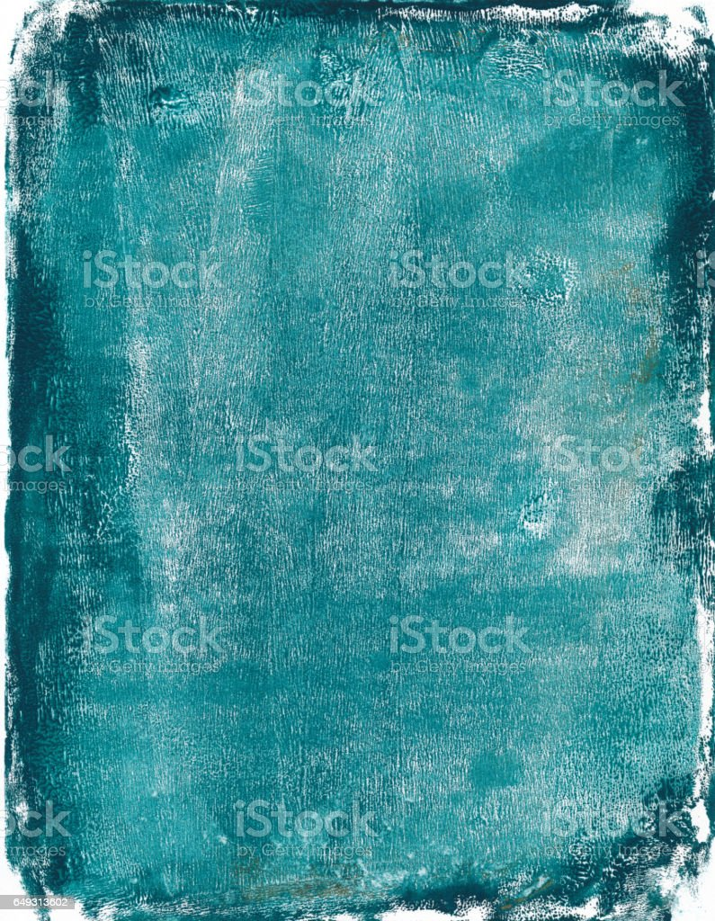 Turquoise colored mixed media grunge background - foto de acervo