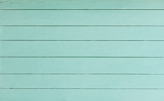 Blue painted wooden planks background texture with copy space