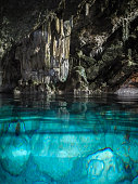 beautiful crystal clear water cave near varadero in cuba.