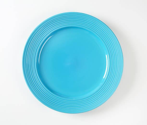 Turchese cena piatto con bordo ampio - foto stock