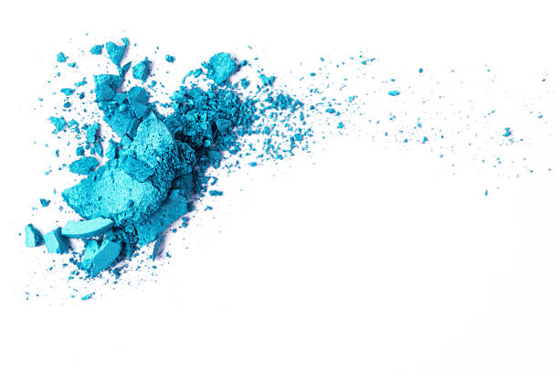 turquoise eyeshadow - blue powder stock photos and pictures