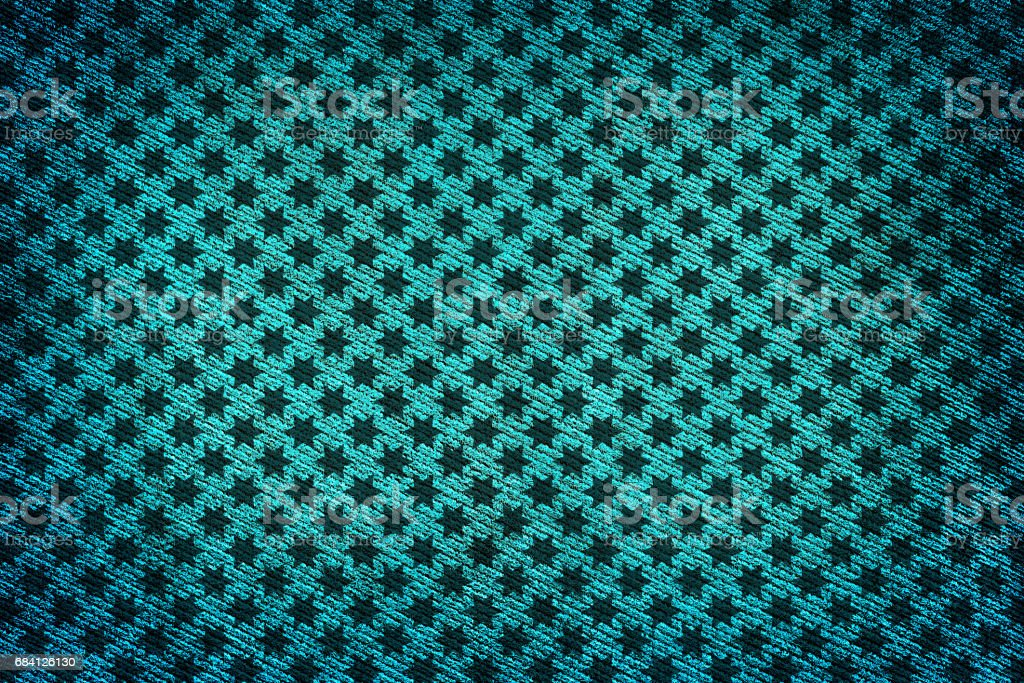Turquoise fabric woven texture high contrasted with vignetting effect macro background stars styled zbiór zdjęć royalty-free