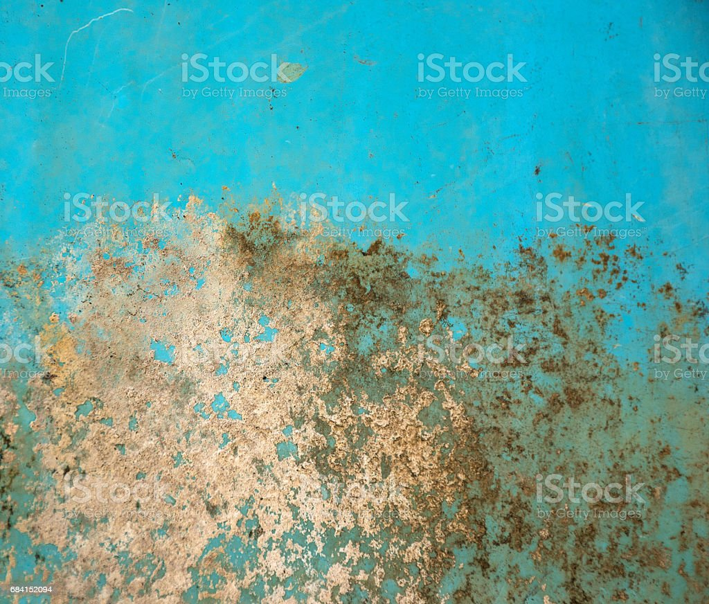 turquoise grungy paint royalty-free stock photo