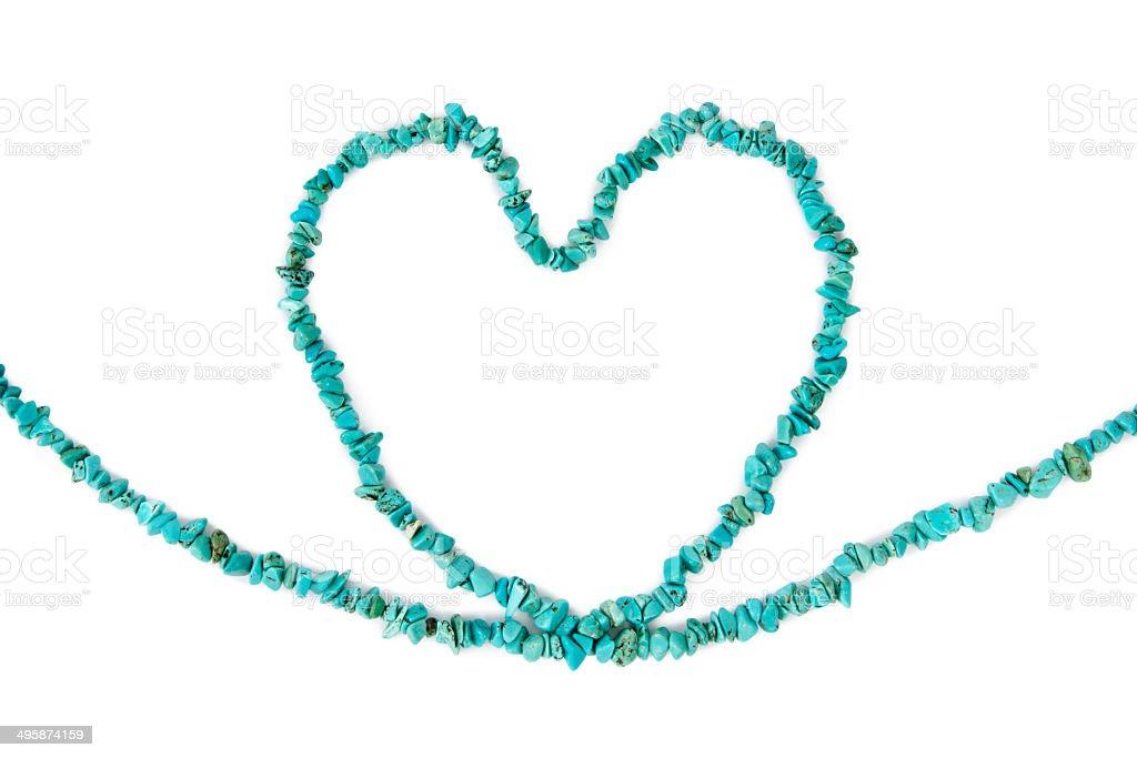 Turquoise Heart stock photo