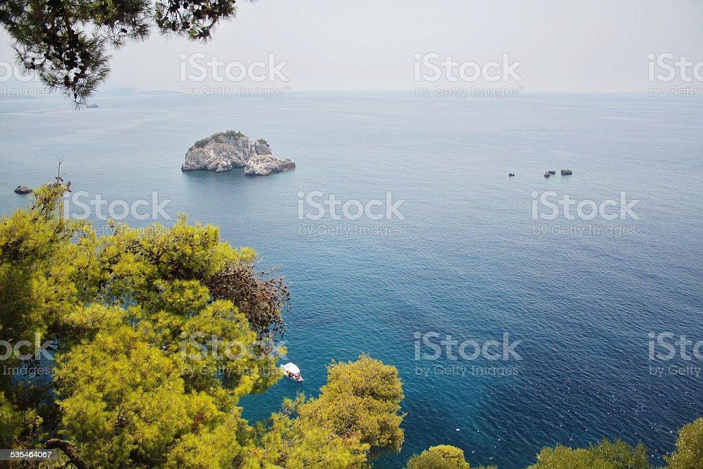 Turquoise Ionian seas stock photo