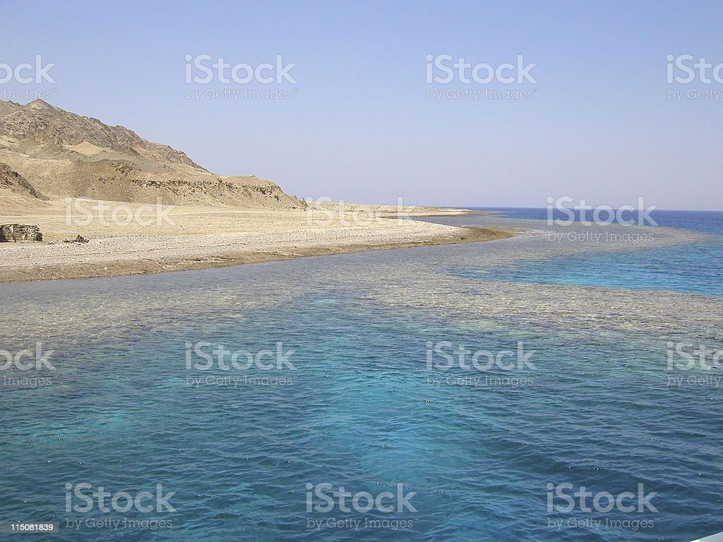 Turquoise lagoon of the Red Sea royalty-free stock photo