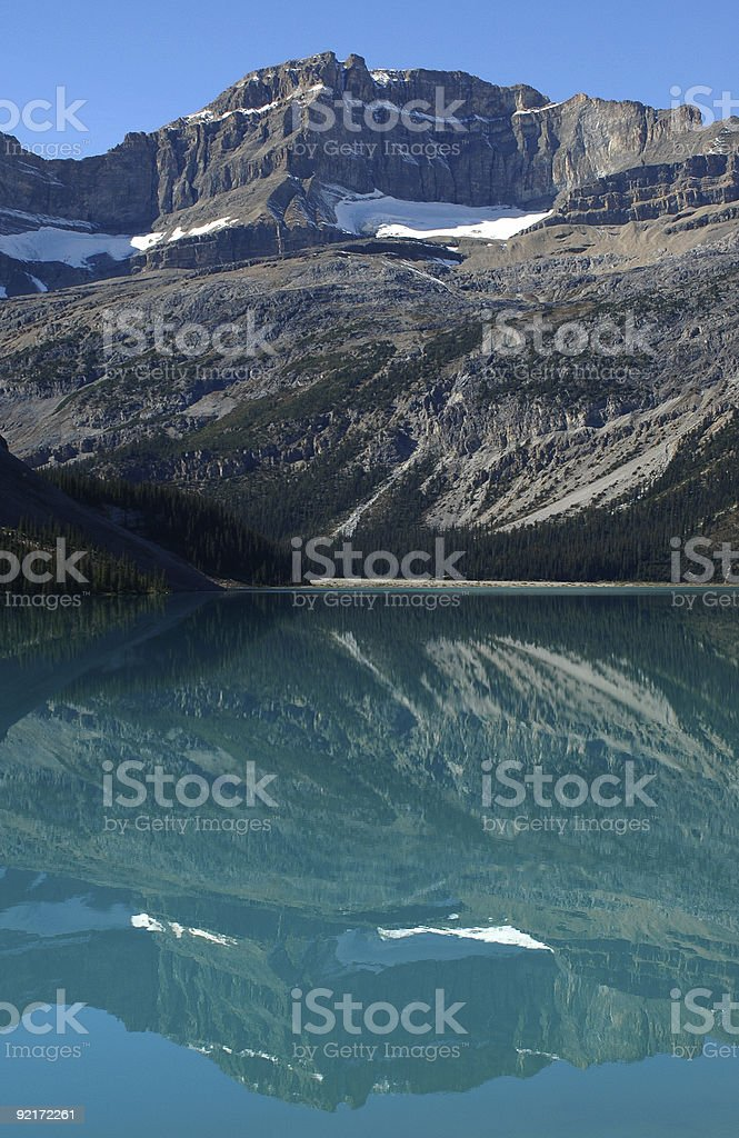 Turquoise Lake in the Candian Rockies stock photo