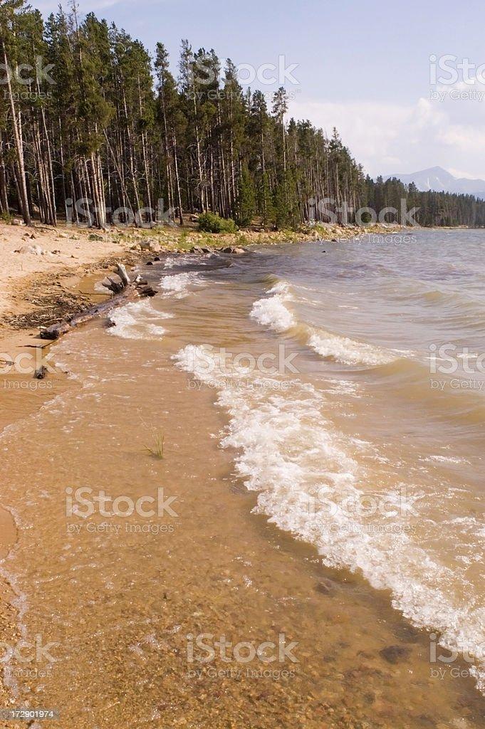 Turquoise Lake Shoreline stock photo