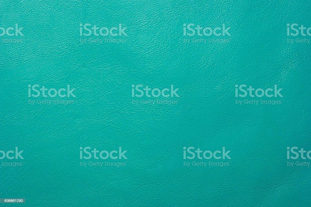 Turquoise leather background stock photo