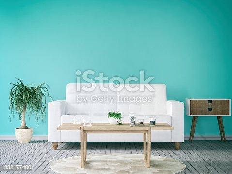 istock Turquoise Living Room 838177400