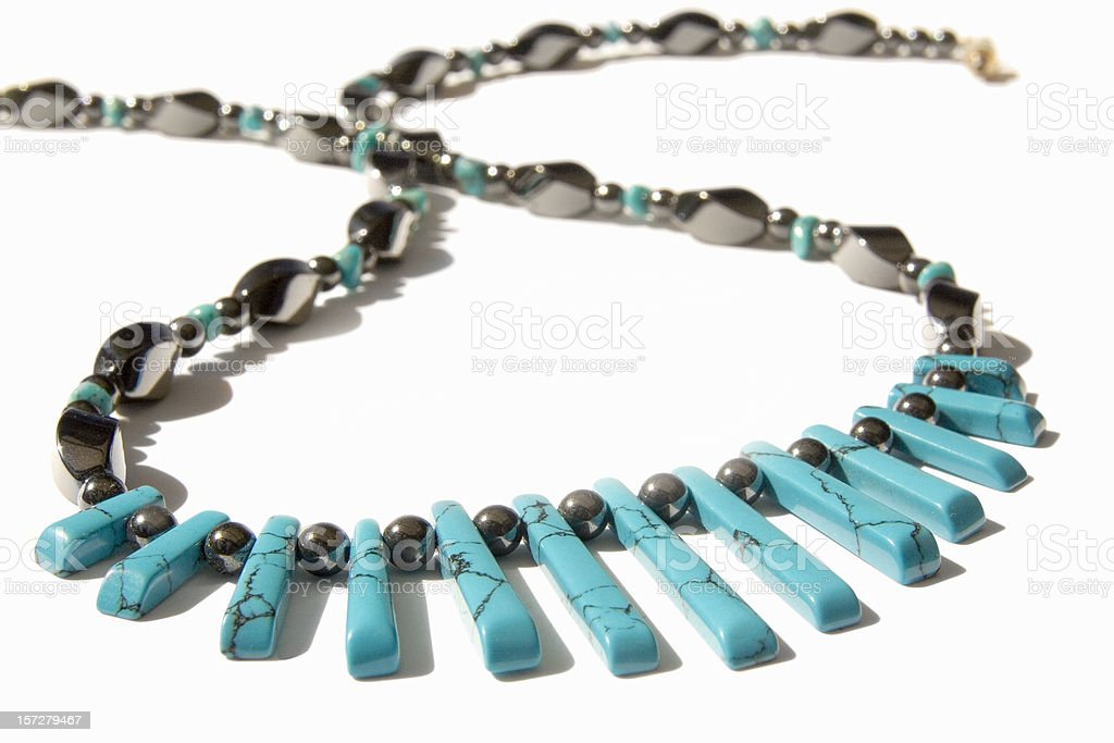 Turquoise necklace royalty-free stock photo