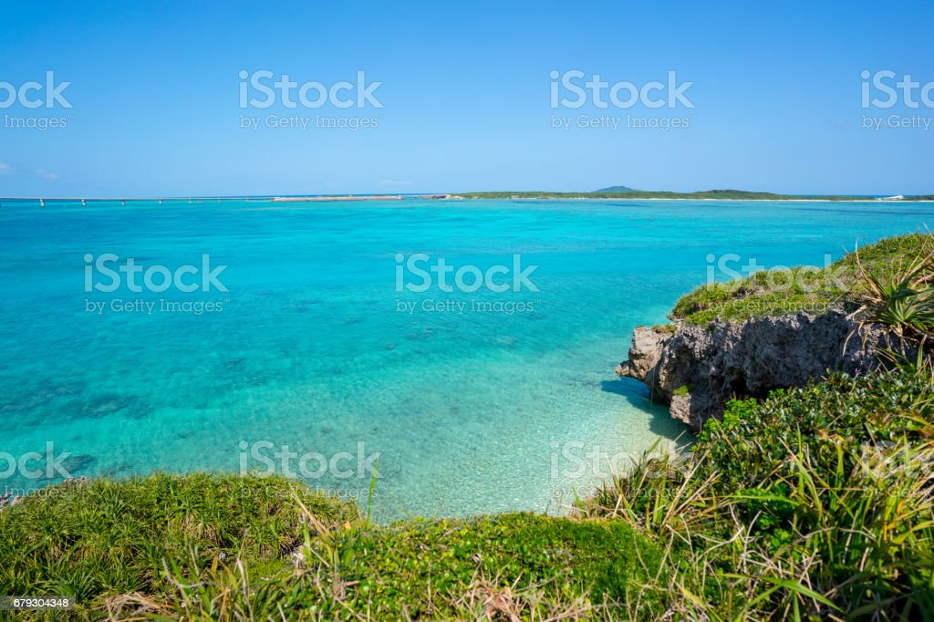 Turquoise ocean and wild cliffs royalty-free stock photo
